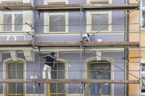 Pommernbau Fassadenanstrich