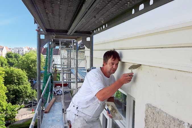 Fassadenbau Handwerker Job