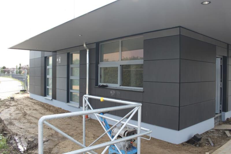 Keramik Fassade Geklebt Auf Aluminium Unterkonstruktion Pommern