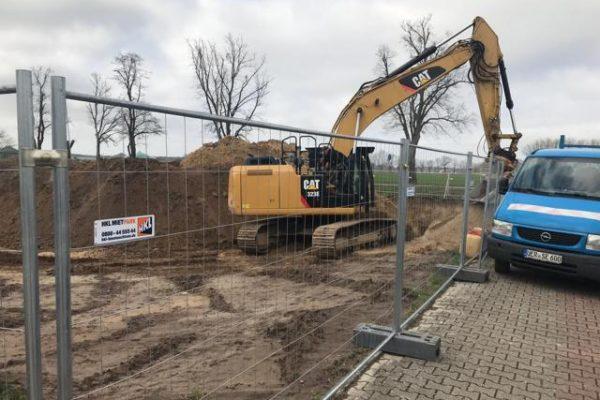 Tiefbauarbeiten neue Firmengebäude Pommernbau