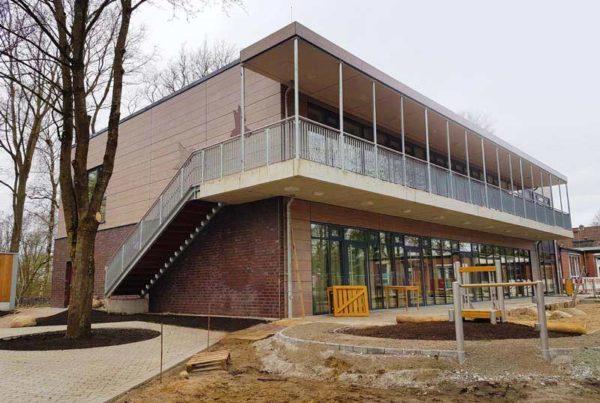 Hinterlüftete Fassade Kita Friedrichsgabe