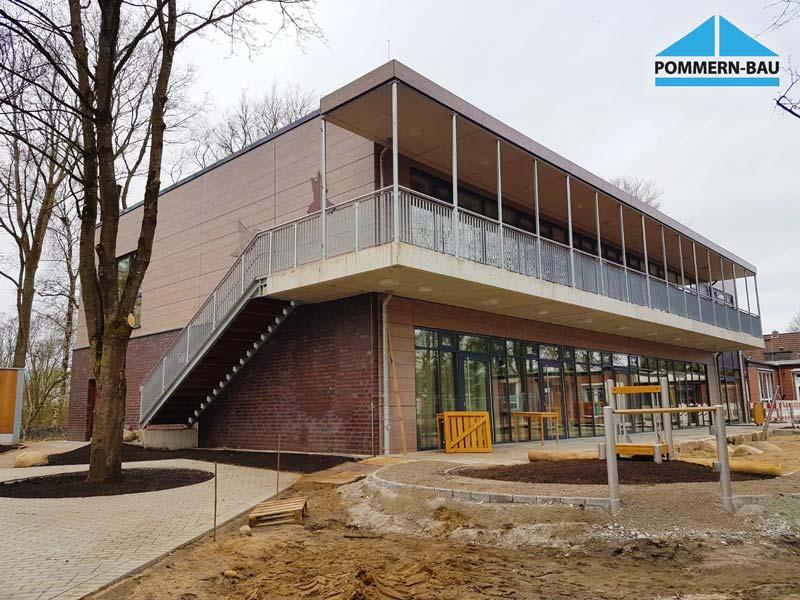 Hinterlüftete Fassade Kita Friedrichsgabe Treppe