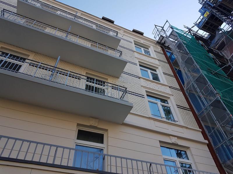 Neubau Balkone Hamburg von unten