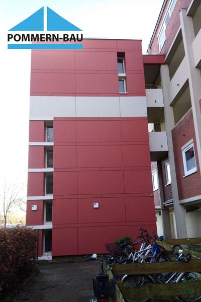 Fassade Eternit rot mehrstöckig